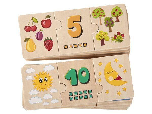 PLAYTIVE® JUNIOR Holz-Lernspiel-/-puzzle