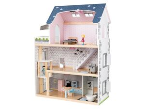 PLAYTIVE® JUNIOR XXL-Puppenhaus, 28-teilig