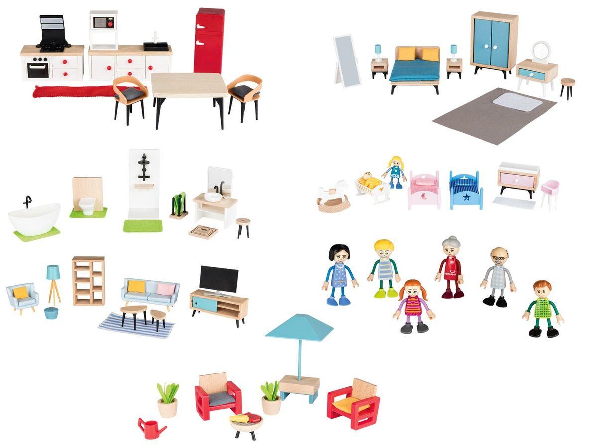 Bild 1 von PLAYTIVE® JUNIOR Puppenset/Puppenhaus-Möbelset