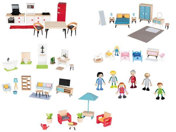 PLAYTIVE® JUNIOR Puppenset/Puppenhaus-Möbelset