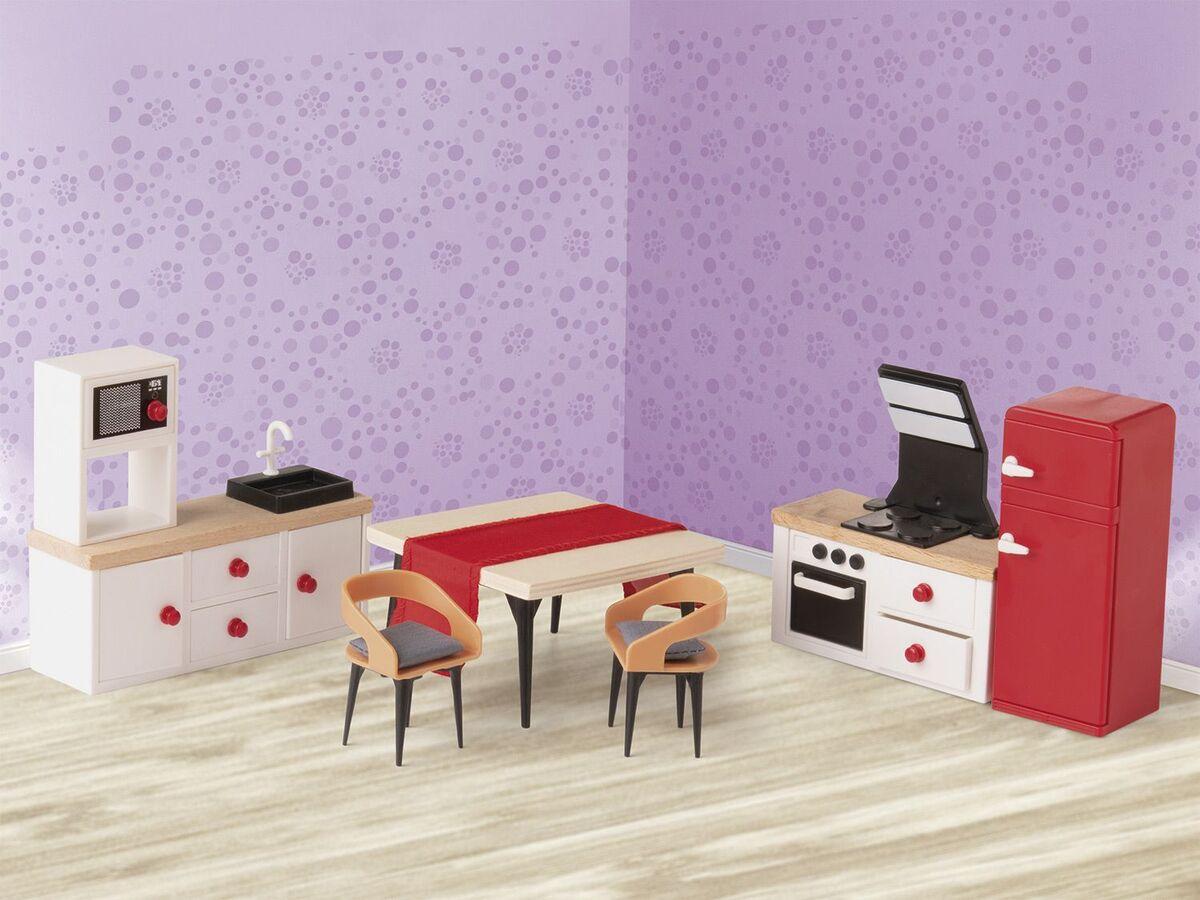 Bild 4 von PLAYTIVE® JUNIOR Puppenset/Puppenhaus-Möbelset