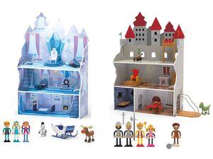 PLAYTIVE® JUNIOR Puppenhaus Eisprinzessin + Ritterburg