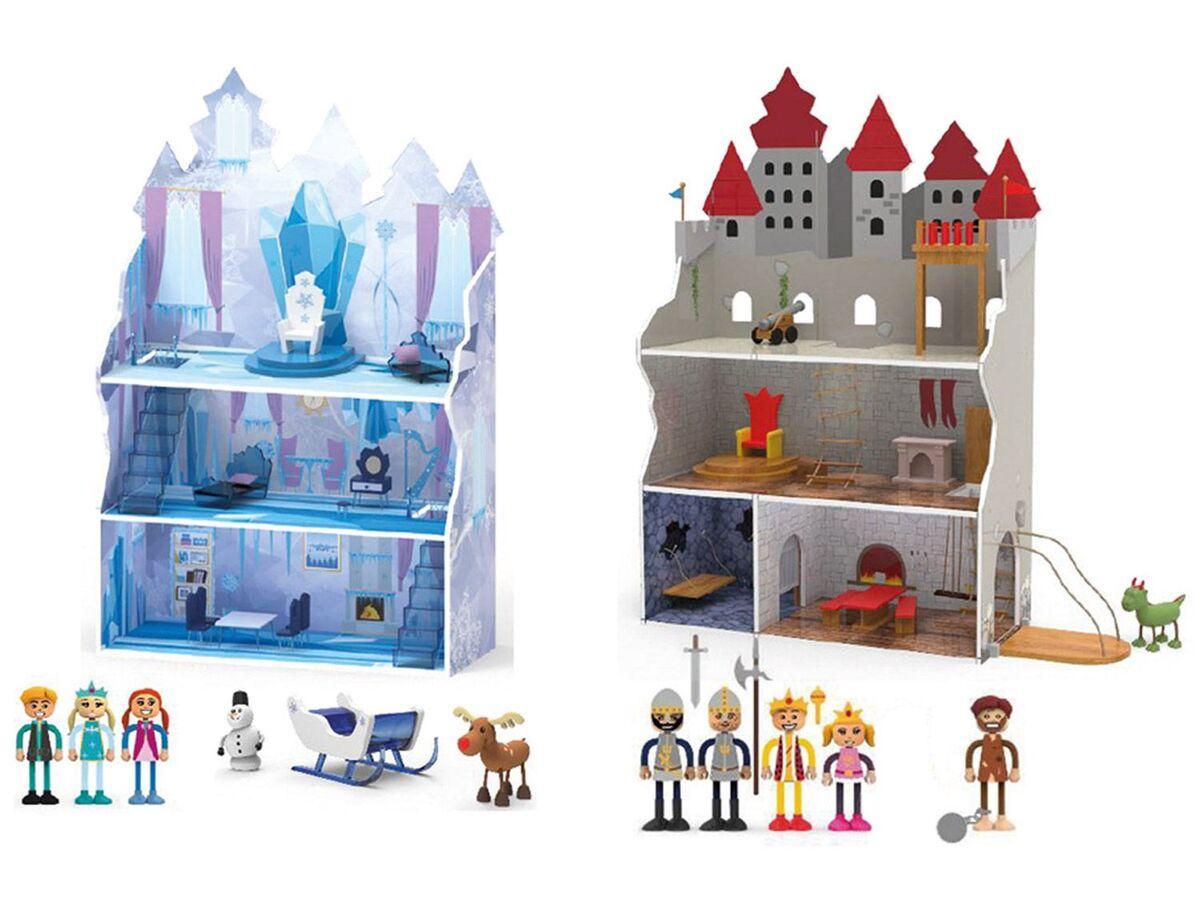 Bild 1 von PLAYTIVE® JUNIOR Puppenhaus Eisprinzessin + Ritterburg