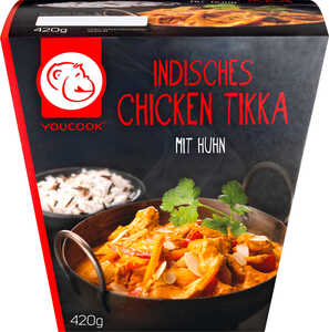 YOUCOOK  Indisches Chicken Tikka oder Rotes Thai Curry