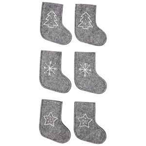 Bestecksocken (6er-Set, grau)