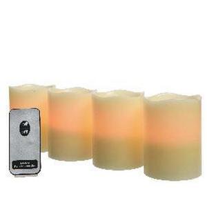 X-Mas LED Kerzen 4er Set, Beige
