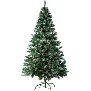 Künstlicher Weihnachtsbaum 180 cm 705 Spitzen und Zapfen grün