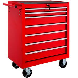 Werkzeugwagen mit 7 Schubladen rot