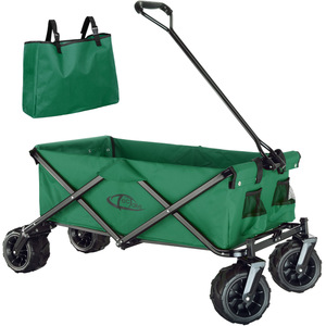 Faltbarer Bollerwagen max. 80kg grün