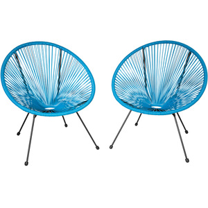 2 Gartenstühle Gabriella blau