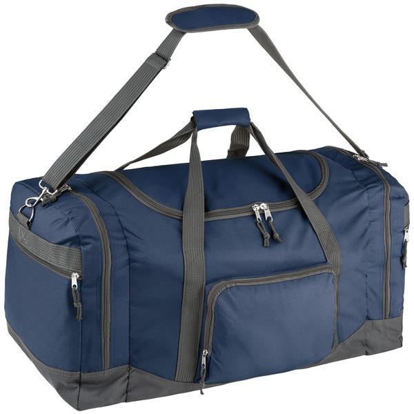 Reisetasche mit Schultergurt 90 Liter blau