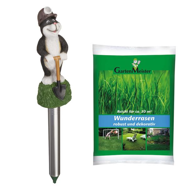 """Wühltiervertreiber """"Paul"""" + Wunderrasen 1 kg GartenMeister"""