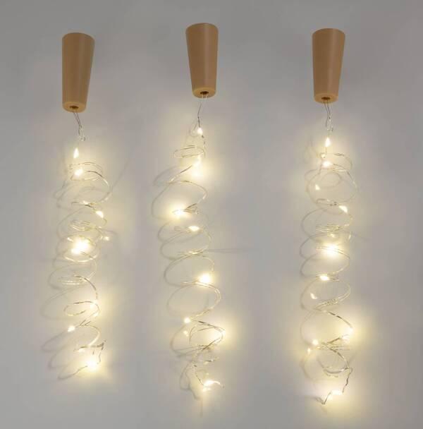 Flaschenkorken mit leuchtenden LED - 3er Set Westfalia