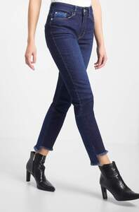 Regular Waist Straight Jeans