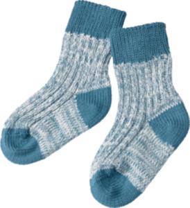 ALANA Baby Socken, Gr. 19/22, in Bio-Baumwolle, blau, weiß, für Mädchen und Jungen
