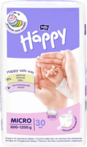 Bella Baby Happy Windeln Micro für Frühgeborene, 600-1200g