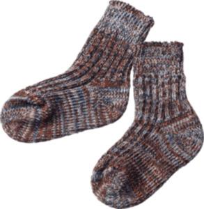 ALANA Baby Socken, Gr. 18/19, in Bio-Baumwolle, blau, braun