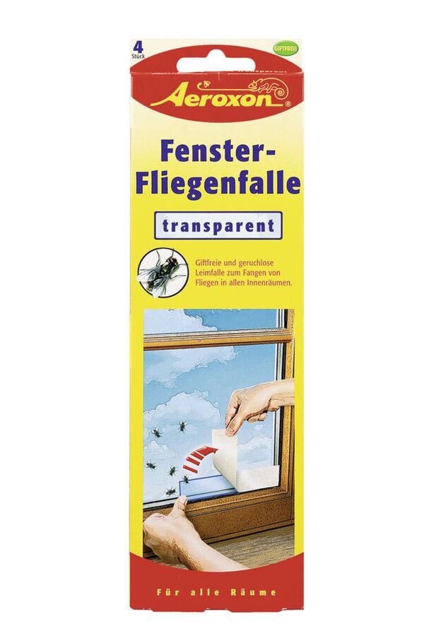 Aeroxon Fenster Fliegenfalle Transparent 4 Stück