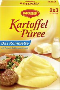 Maggi Kartoffel Püree komplett mit feinem Buttergeschmack 2x 100 g