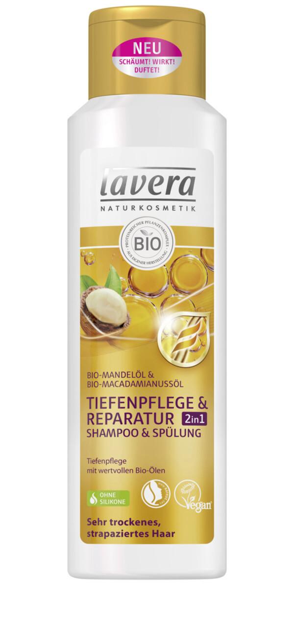 lavera Naturkosmetik Tiefenpflege & Reparatur 2in1 Shampoo & Spülung 250 ml