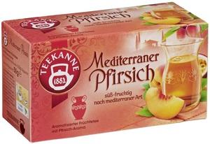 Teekanne Tee Mediterraner Pfirsich 20x 2,5 g