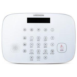 MEDION Smart Home Sparpaket - Alarmsystem Zentrale P85731, 3 x P85703 Tür- und Fensterkontakt, 1 x P85707 Bewegungsmelder, 2 x P85713 Fernbedienung, 3 x P85710 Erschütterungssensor