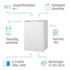 MEDION Kühlschrank MD 13854 mit 130 L, Klimaklasse ST/N, wechselbarer Türanschlag, höhenverstellbare Füße