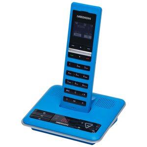 MEDION LIFE® S63064 DECT Telefon mit integriertem Anrufbeantworter, Full-ECO Funktion, zehn Stunden Gesprächszeit, 15 unterschiedliche Anrufsignalmelodien