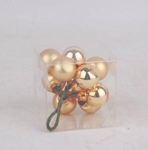 TrendLine Glaskugeln auf Draht ,  glanz, 20 mm, hellgold