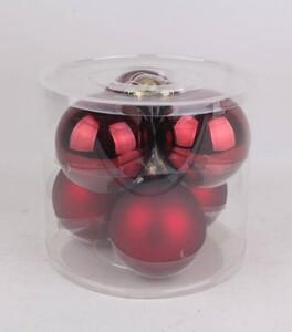 TrendLine Glaskugeln ,  uni glanz/matt, 80 mm, ochsenblut