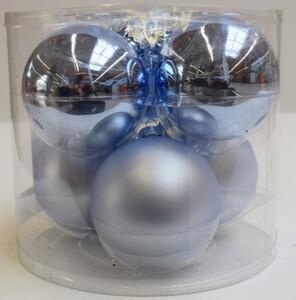 TrendLine Glaskugeln ,  uni glanz/matt, 80 mm, eisblau