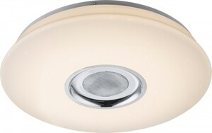 Globo LED Deckenleuchte ,  weiß, sparcle Dekor, Lautsprecher, Farbwechsler
