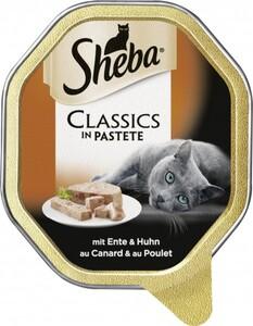 Sheba Katzennassfutter - Classics in Pastete mit Ente und Huhn ,  85 g