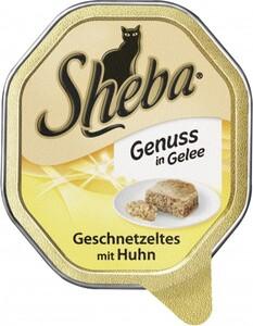 Sheba Katzennassfutter - Delikatesse in Gelee Geschnetzeltes mit Huhn ,  85 g