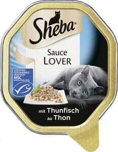 Sheba Katzennassfutter - Sauce Lover mit Thunfisch ,  85 g
