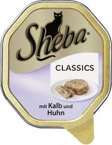 Sheba Katzennassfutter - Classics in Pastete mit Kalb & Huhn ,  85 g