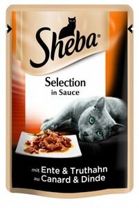 Sheba Katzennassfutter Ente & Truthahn 85 g, Sheba Selection ,  85 g