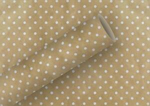 Braun & Company Geschenkpapier Kollektion Punkte weiß ,  2 m x 70 cm