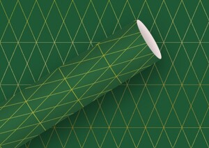 Braun & Company Geschenkpapier Kollektion Geometric grün ,  1,50 m x 70 cm