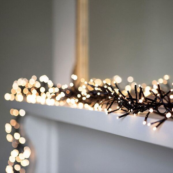 LED-Cluster-Lichterkette 14,5m 480 LEDs Warmweiß