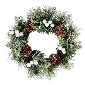 Weihnachts-Dekokranz mit Tannenzapfen 25,5cm