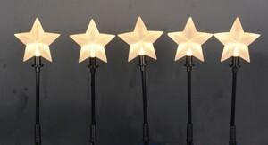 TrendLine LED Sternenstäbe ,  5 Stäbe je 1 LED, warmweiß