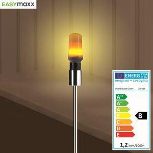 Easymaxx LED-Glühlampe mit Flammeneffekt 1W E27