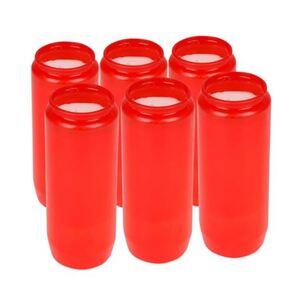 Jumbo Öl-Grablicht 6er-Set Rot