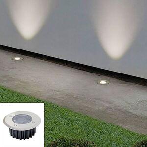 LED-Solar-Bodeneinbauleuchte Rund 8,5x3,5cm