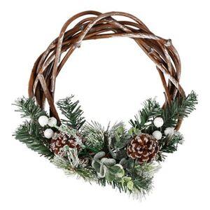 Weihnachts-Dekokranz mit Tannengrün und Zapfen 30,5cm