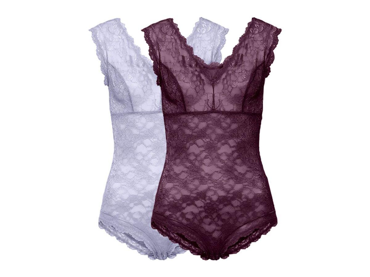 Bild 1 von ESMARA® Lingerie 2 Damen Spitzen-Bodys