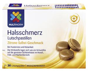 MULTINORM Halsschmerz Lutschpastillen