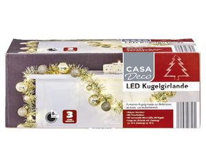 CASA Deco LED-Kugelgirlande