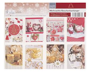 CASA Deco Weihnachts-Geschenkanhänger